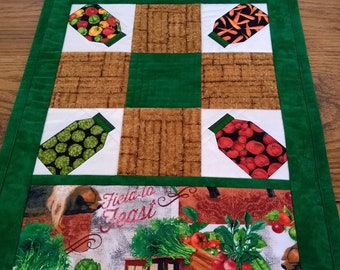 PDF: 4 Designs, Sunday Afternoon Table Runner, Paper Pieced Quilt Pattern, Coffee Cups, Trees, Mason Jars, Hearts, Farmhouse, Novelty