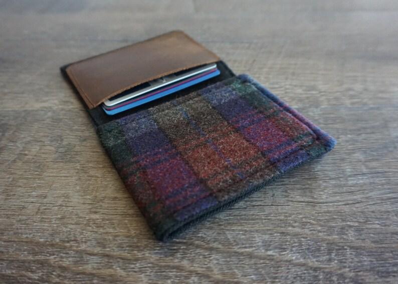 Wallet  purple and black vintage plaid image 0