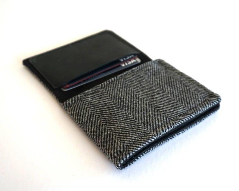 Wallet  gray herringbone image 0