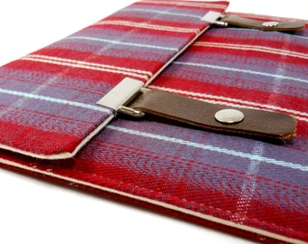 iPad case - red and purple plaid
