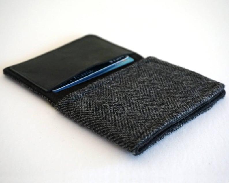 Wallet  black and gray herringbone image 0