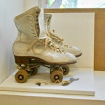 Antique 1940s Roller Skates with Original Wooden Case.
