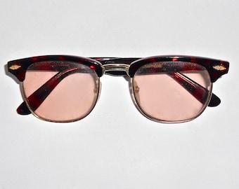 e67add75e7 SALE 30% OFF Vintage 1980s Mens Tortoise Shell Hornrim Tinted Glasses -  Photo Sun Lenses - Half Frames