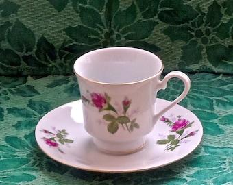 Rosebud Teacup - Rose Bud -Tea Cup -  RosebudTeacup and Saucer