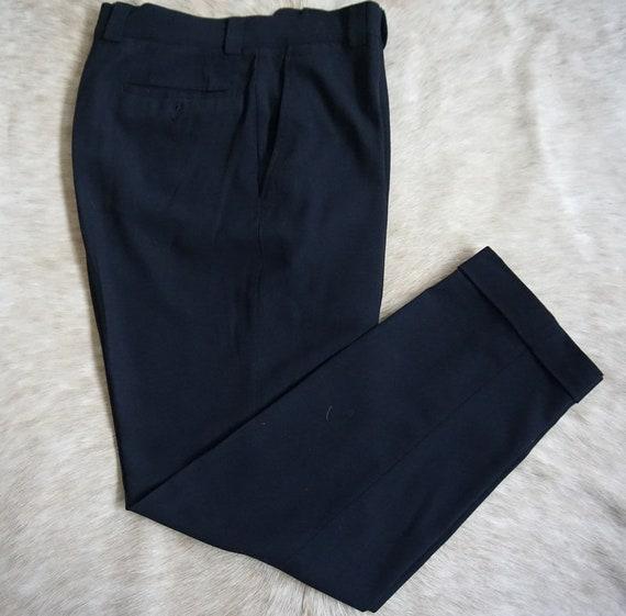 GIANNI VERSACE vintage crepe wool trouser.