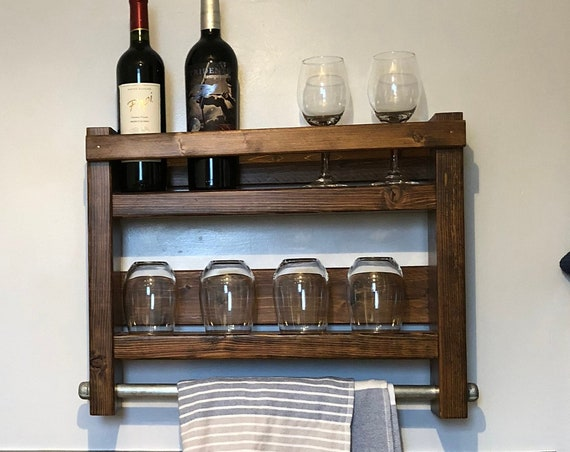 Wine Rack Storage, Kitchen Decor, Kitchen Wall Decor