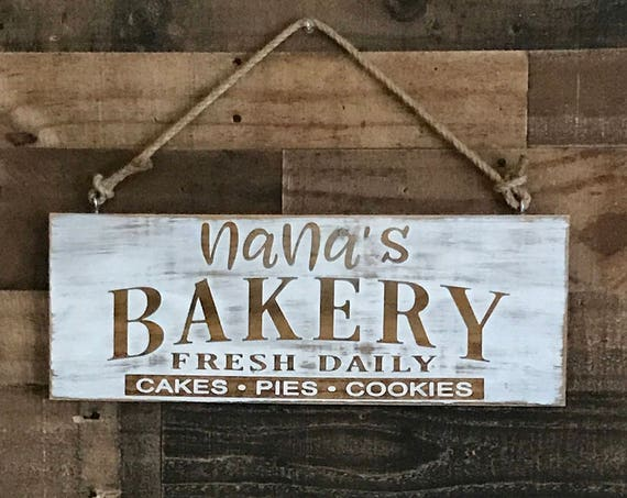 Kitchen Sign, Kitchen Decor, Farmhouse Kitchen, Rustic Sign, Farmhouse Sign, Grandmas Kitchen, Nanna's Kitchen, Moms Kitchen, Mom Wood Sign