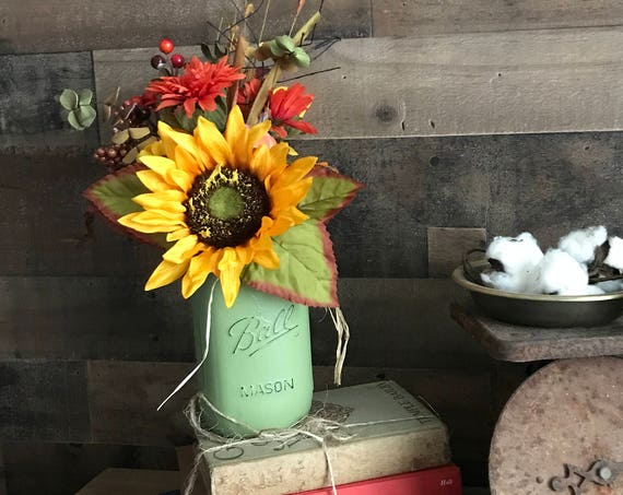 Fall Decor, Home Decor, Floral Arrangement, Fall Decorations, Thanksgiving Arrangement, Rustic Country Decor, Fall Flowers