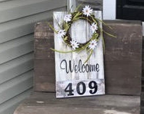 Front porch Sign, House Numbers, Front Porch, Welcome Sign, Address Plaque, Front Porch wreath, Porch Sign, House Numbers, Front Door