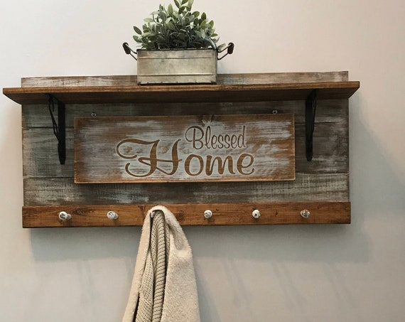 Coat Rack Farmhouse Christmas, Christmas Decorations, Family Name Sign Coat Storage, Entryway Rack, Coat Hooks