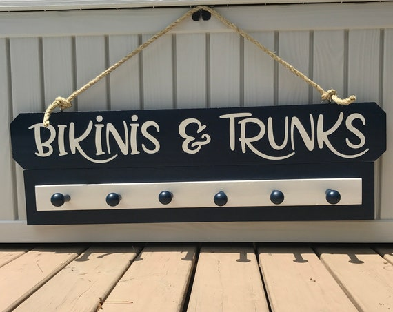 Pool Decorations, Pool Signs, Towel Rack for Pool, Pool Rack, Swimming Signs, Beach House Signs, Decorations For Pool, Decorations For Beach