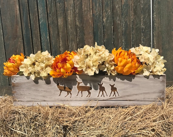 Fall Decor, Fall Centerpiece, Fall Decorations, Rustic Fall Centerpiece, Fall Home Decor, Fall Flowers, Kitchen Table Decor, Guest room Fall