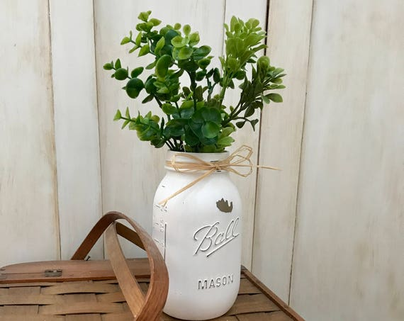 Mason Jars, Gift For Her, Gift For Mom, Mason Jar, Anniversary Gift, Table Decorations, Painted Mason Jars, Gift For Wife, Rustic Home Decor