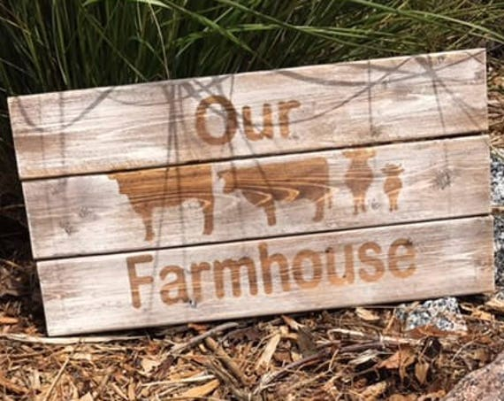 Personalized Family Sign, Cow Sign, Wooden Sign, Rustic Cow Sign, Rustic Farmhouse Sign, Country Sign, Country Decor