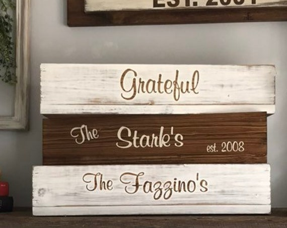 Wooden Box, Wood Box with Family Name, Wood Box Centerpieces, Office Decor, Rustic Wedding Gift