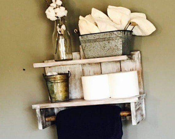 Wall Decor Bathroom Decor Rustic Wall Decor For Bathroom Kitchen Wall Decor Wall Decorations Shelf Toiletry Holder