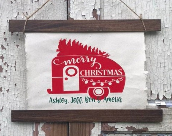 Camper Decor Personalized Camping Sign for RV Decor For Chirsitmas Gift