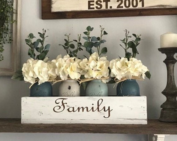 Personalized Women gift for Mothers Day, Custom Birthday gift for Mom, Personalized Home decor flower arrangement for living room
