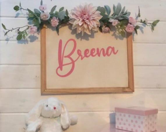 Nursery Decor Baby Girl Name Sign Girl Room Decorations Teen Girl Room Decor Rustic Nursery Sign Girl Room Name Sign Girly Wall Decor Sign