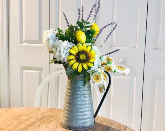 Farmhouse Sunflower Arrangement, Long Distance Gift, Mom Missing You, Thinking of You, Send A Gift of Flowers, Get Well