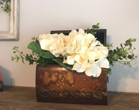 Flowers Hydrangeas Country Home Decor, Bedroom Decor Table Accessory, Artificial Flowers Centerpiece