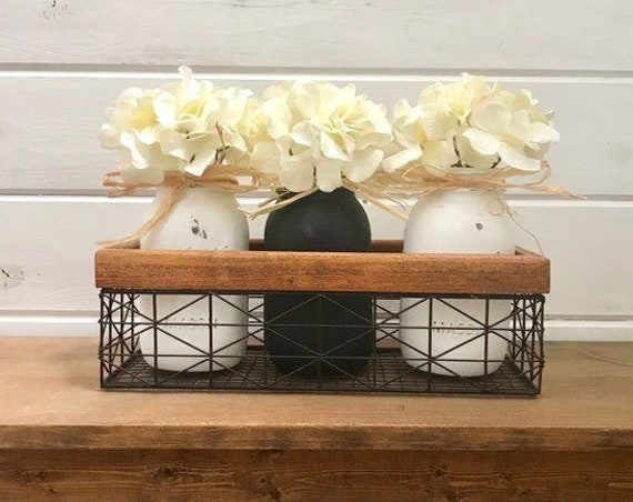 Mason Jar, Flower Arrangement, Modern Farmhouse Decor, Kitchen Bar Decor, Living Room Coffee Table Arragnement, Dining Room Table Decor