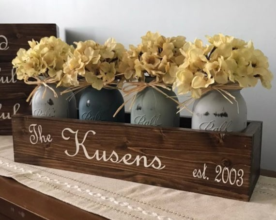 Farmhouse Table Decor, Farmhouse Centerpiece, Farmhouse Kitchen Decor