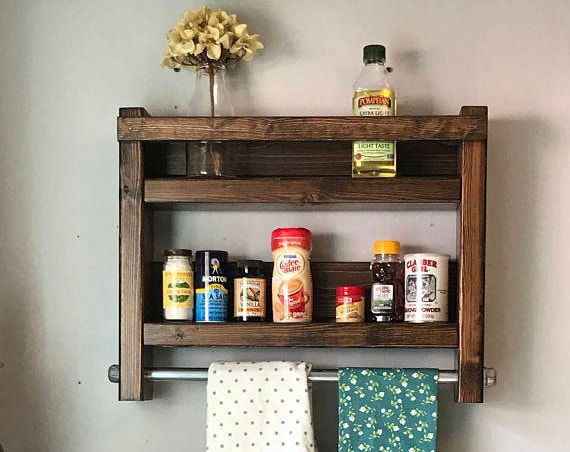 Kitchen Storage Shelves, Rustic Kitchen Storage Shelves, Farmhouse Kitchen Shelves