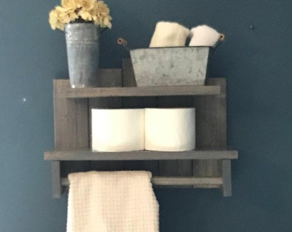 Shelves Bathroom Decor, Bathroom Wall Decor, Rustic Bathroom Wall, Storage Shelves, Wood Shelves, Wall Shelving