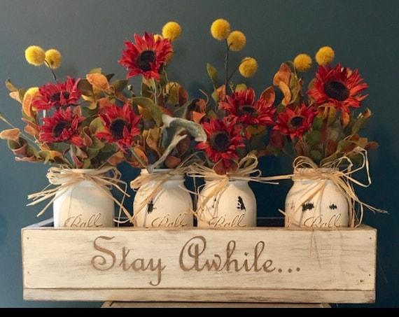 Fall Centerpiece, Floral Arrangement, Fall Decor Rustic, Farmhouse Centerpiece, Thanksgiving Table Decor, Fall Decorations, Centerpiece
