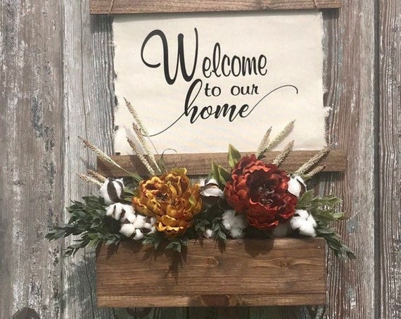 Fall Decor, Welcome Sign, Personalize Sign, Fall Centerpiece, Last Name Gift, Gift For Her, New Home Gift