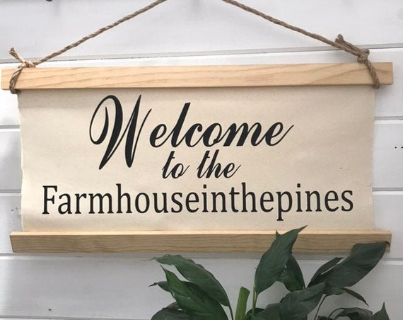 Welcome Sign Our Home Housewarming Gift Last Name Sign Anniversary Gift Rustic Wedding Decor Wood Sign