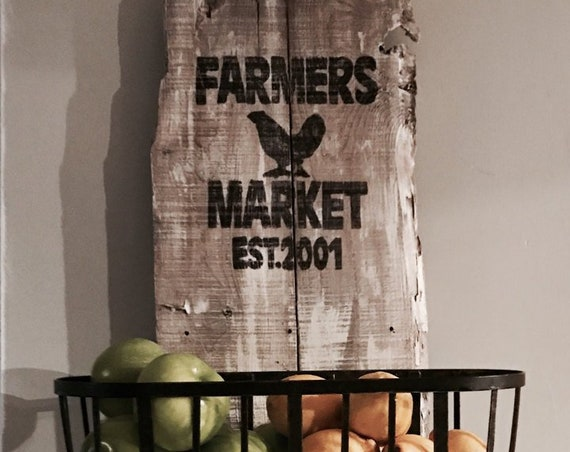 Farmhouse sign, Farmers Market Sign, Rustic Kitchen, Country kitchen, Custom Farmhouse, Produce baskets, Fruit Rack, Kitchen basket, Storage