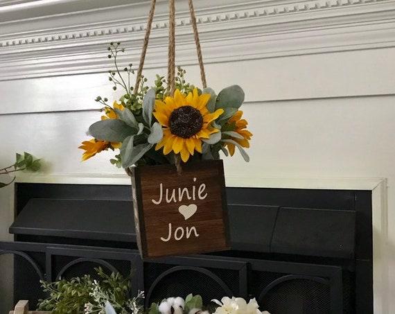 Wedding Decor Hanging Planter Indoor Planter Personalized Wedding Gift Plant Pot Sunflower Wedding Decor Plant Holder