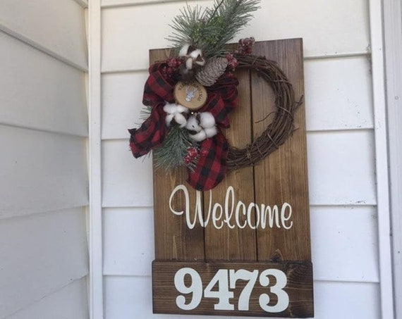 Buffalo Plaid Christmas Decor, Rustic Christmas, Buffalo Plaid, Farmhouse Christmas, Holiday Decor, Gift for Mom