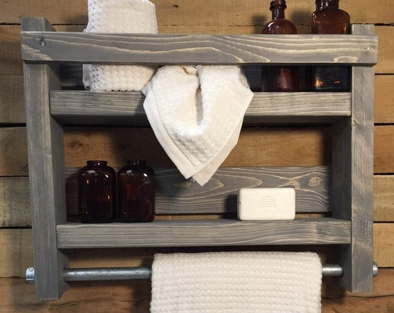 Bathroom Shelf, Bathroom storage, Bathroom towel rack, Bathroom Shelves, Bathroom wood shelf, Bathroom wall shelf, Bathroom towel storage