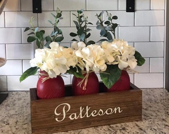 Gift For Women, Mothers Day Flower Arrangement, Personalized Moms Gift, Home Decor Gift For Her, Personalized Planters, Custom Flower Box