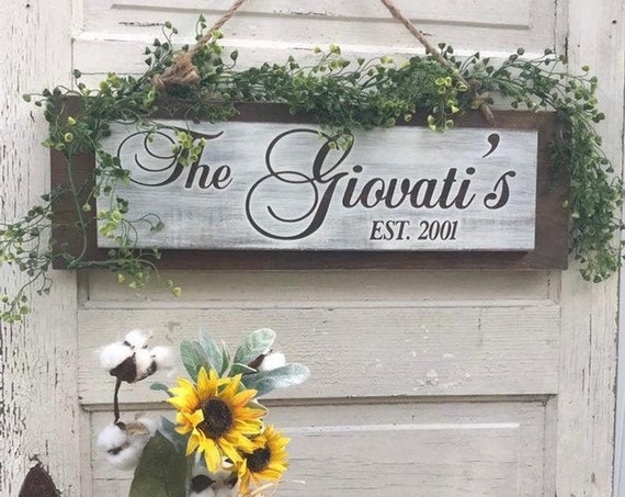 Rustic Home Decor Last Name Wedding Sign, Wooden Name Sign, Wall Decor Sign, Custom Last Name, Farmhouse Wall Decor, Gift For Bride