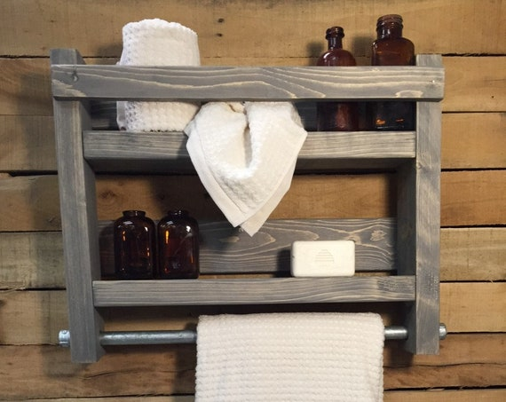 Rustic Shelves, Lake House Decor, Solid Wood Shelves, Rustic Wall Shelf, Lake House Decorations For Bathroom, Hanging Shelf