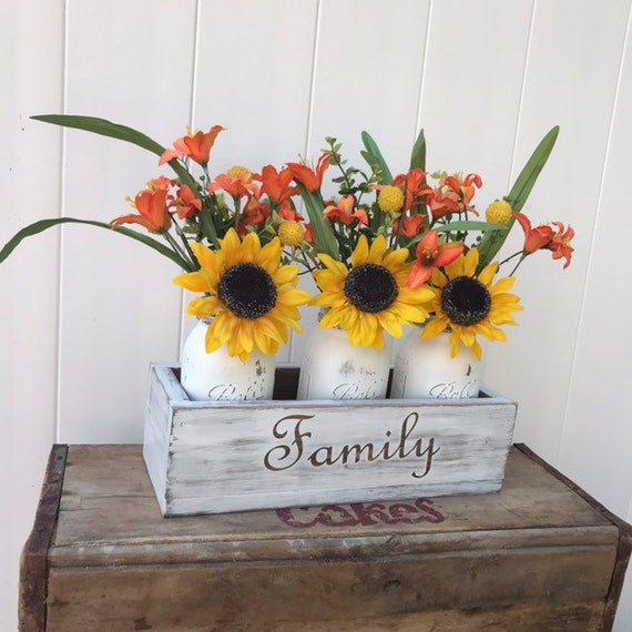Farmhouse Kitchen Decor Sunflower Centerpiece for Kitchen Table Decor Guest Room Decor New Home Gift Wedding Gift Couple