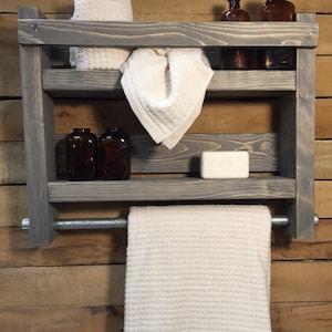 Towel Rack Bath Towel Rack Rustic Towel Rack Bathroom Towel Etsy