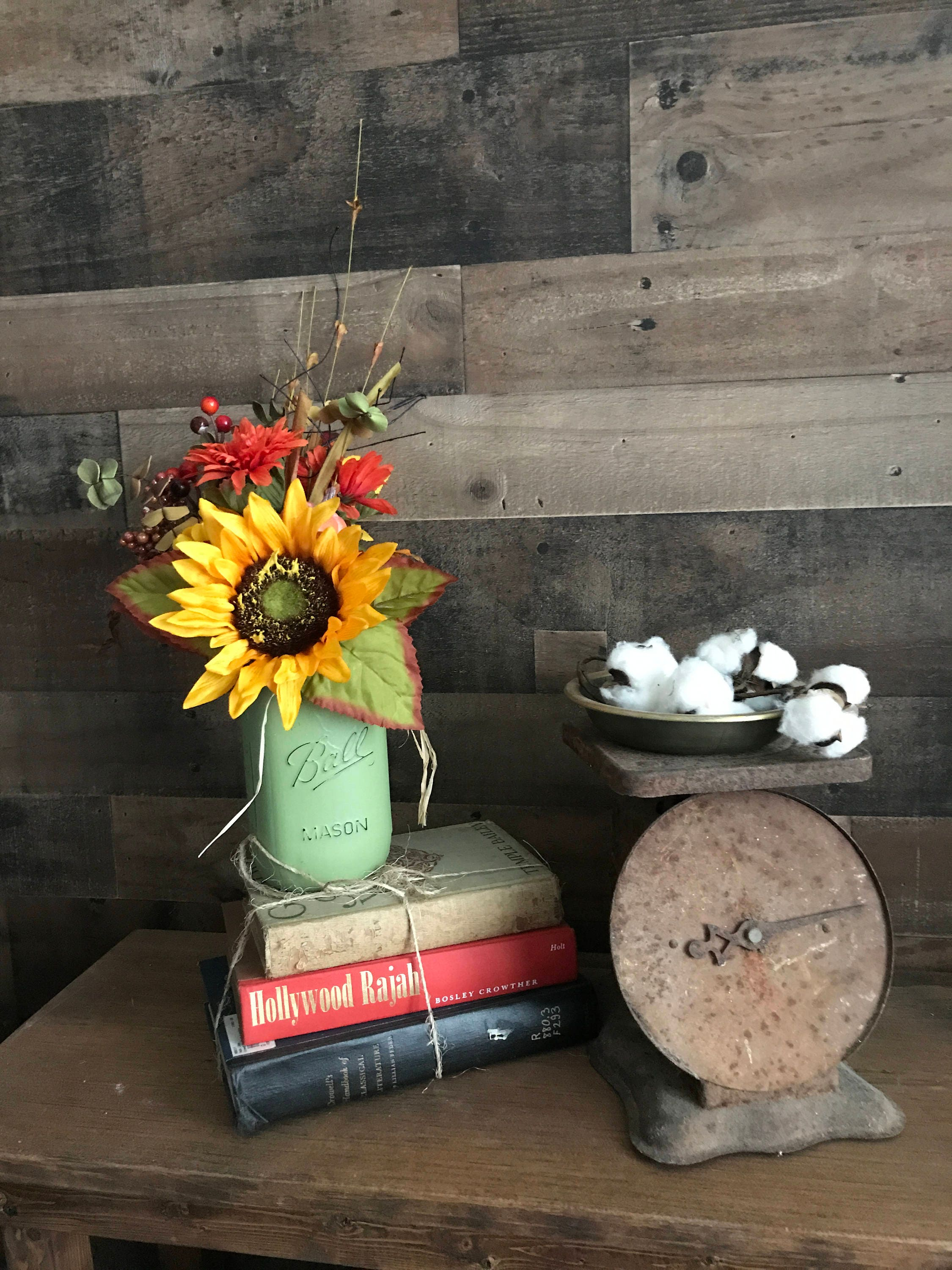 Fall Decor Home Floral Arrangement Decorations Thanksgiving Rustic Country Flowers Sunflower