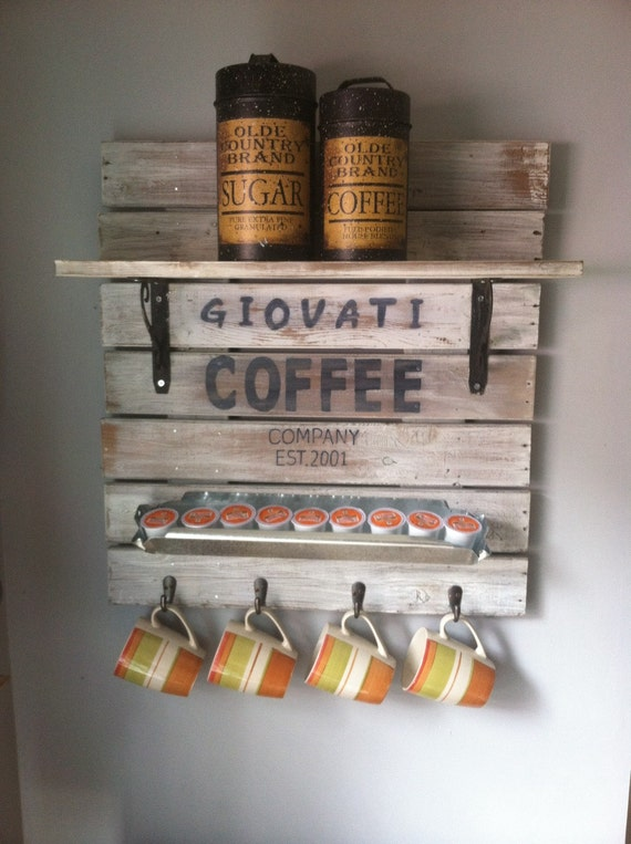 Coffee Sign, Coffee Bar Sign, Coffee Bar Decor, Coffee Pod Holder, But First Coffee, Rustic Coffee Bar, Farmhouse Coffee sign, Gift for Her