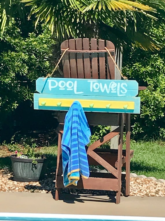 Home Decor Towel Rack, Outdoor Decor, Home Decor Farmhouse, Towel Rack for Pool, Home Decor Signs, Towel Rack beach house, Pool Signs