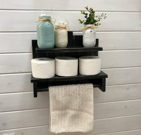 Black Wall Shelves, Wooden Shelves, for Wall Hanging Decor Storage, Comes in Many Stain Colors. Explore Now