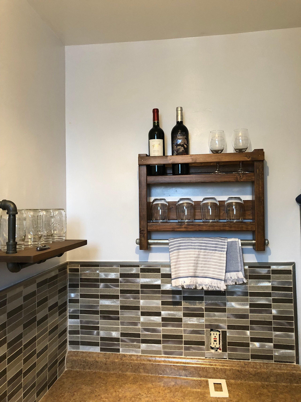 Wine Rack Kitchen Decor Kitchen Wall Decor Kitchen Towels Holder