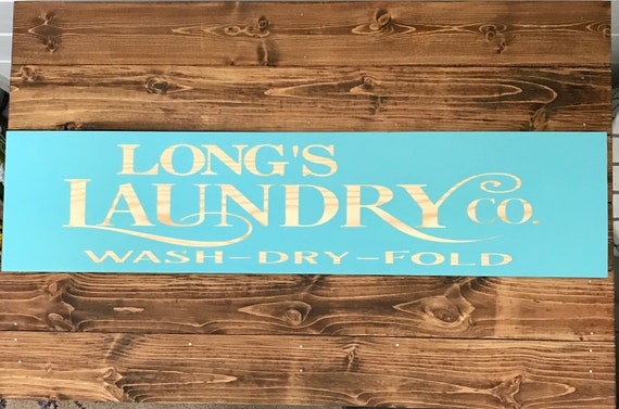 Sign for Laundry Room Rustic Farmhouse Decor Rustic Style Farmhouse Sign Country Style Sign Personalized Wood Sign