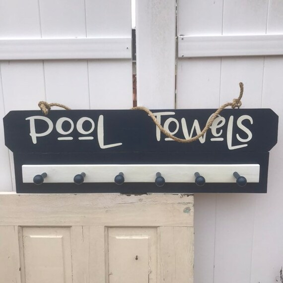 Pool Towel Rack, Pool Decor, Towel Hooks for Pool, One Ready to ship