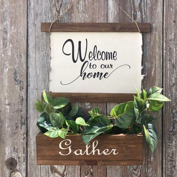 Farmhouse Sign, Home Sign, Family Name Sign Wood, Welcome To Our Home Sign, Established Sign, New Home Housewarming Gift, Gift For Mom