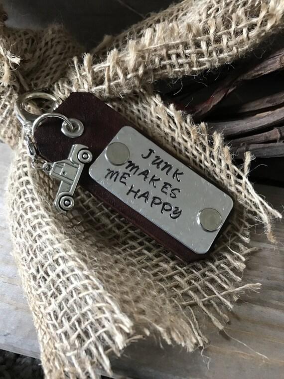 Leather keyring, Leather keychain, Leather key FOB, Key rings, Personalized, Custom Leather, Custom Keyring, Truck Keyring